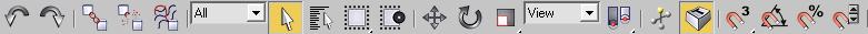 Главная панель иструментов 3DS Max