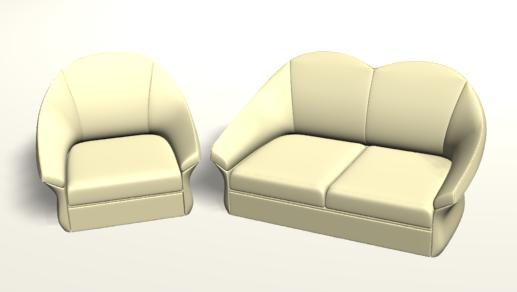 Результат урока - диван и кресло