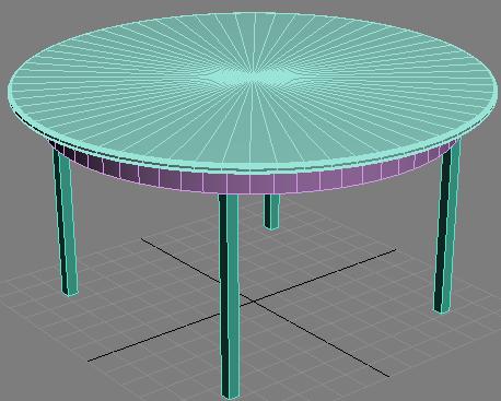 Получившийся столик