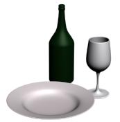 Тарелка, бутылка, бокал - объекты вращения