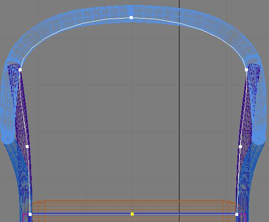 спинка стула вид спереди