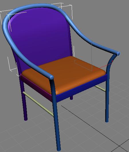 Разместите созданную подушку на спинке стула
