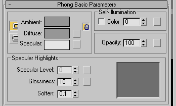 Phong Basic Parameters