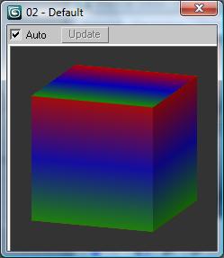 Вот, например что получиться, если задать для диффузного цвета процедурную карту Gradient