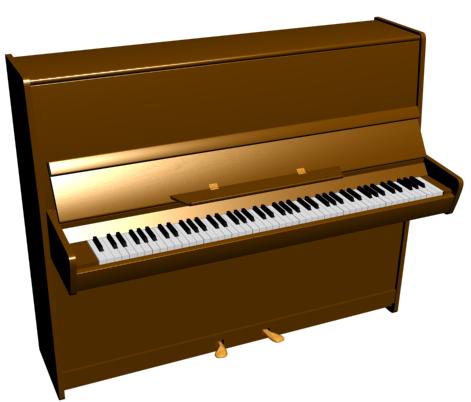 пианино без текстуры дерева