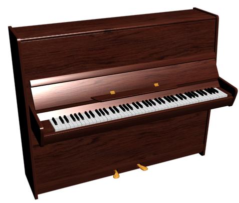 пианино с текстурой дерева