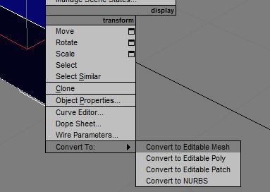 Convert to Editable Mesh