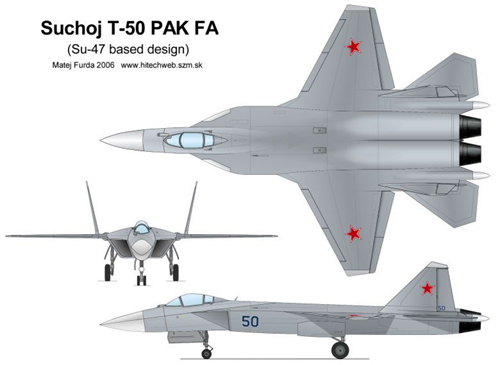 Чертеж Т-50 ПАК ФА